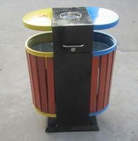 钢木垃圾桶A091