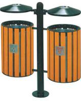 钢木垃圾桶A093