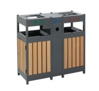钢木垃圾桶A096