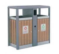钢木垃圾桶A097