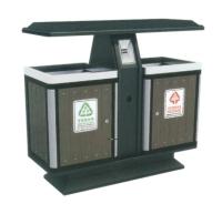 钢木垃圾桶A100