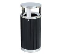 钢木垃圾桶A102