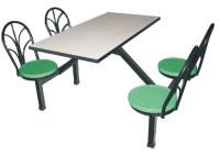 4人位铁靠背餐桌
