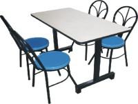 玻璃钢4人位分体餐桌