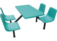 玻璃钢4人位靠背椅餐桌