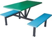 玻璃钢4人位条凳餐桌