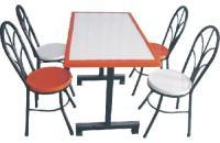 玻璃钢4人位分体餐桌椅