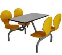 曲木4人位餐桌B034