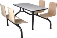 曲木4人位餐桌B036