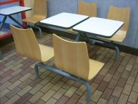 曲木4人位餐桌B038