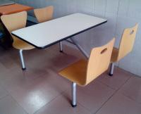曲木4人位餐桌B039
